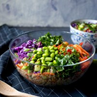 Thai Quinoa Salad with Peanut Dressing Recipe
