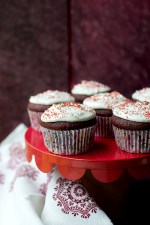 Red Velvet Cupcakes with Marshmallow fluff Frosting