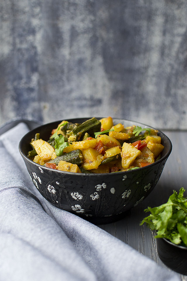 Potato-Okra Curry
