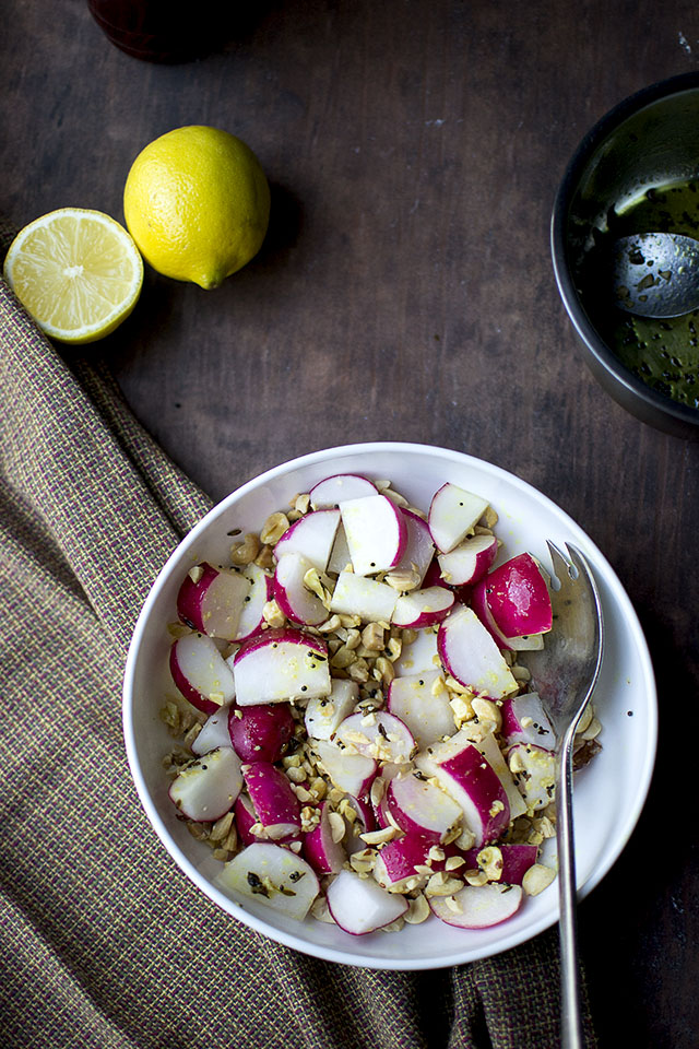 Indian Style Radish and Peanut Salad