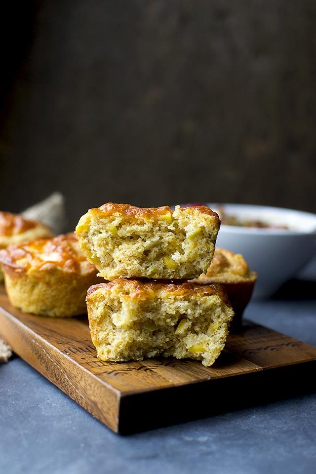 Eggless Corn Muffins