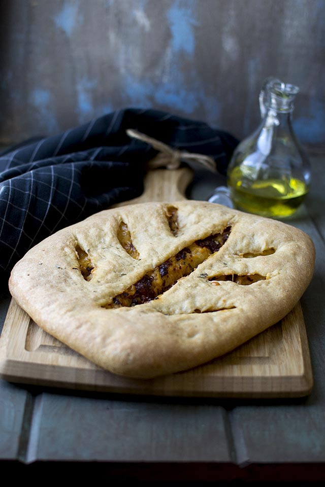 Fougasse with Cheese and Pesto