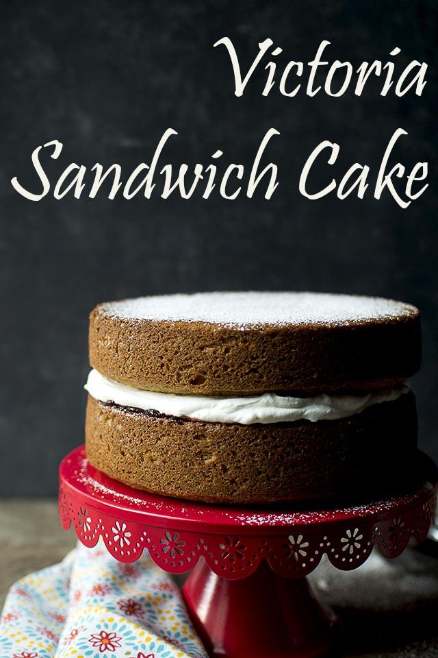 Eggless Victoria Sandwich Cake