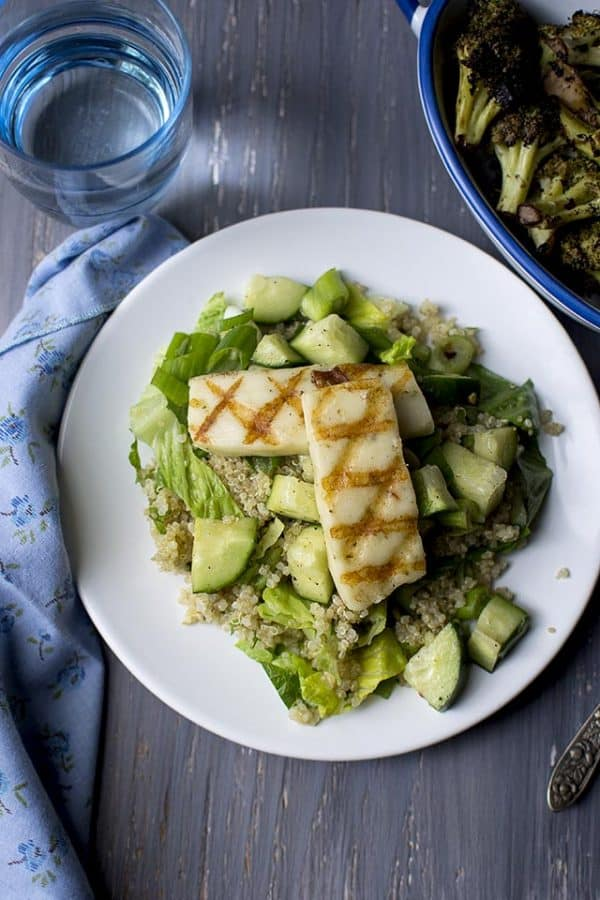 Grilled Halloumi with Quinoa Salad