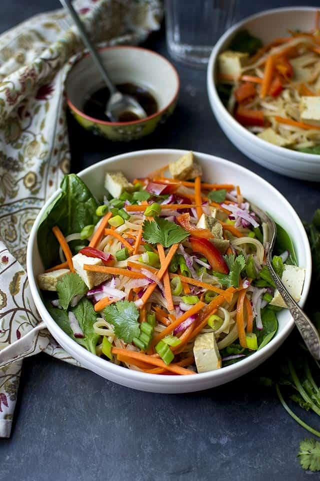 Vegan Pad Thai Noodle salad with Tofu
