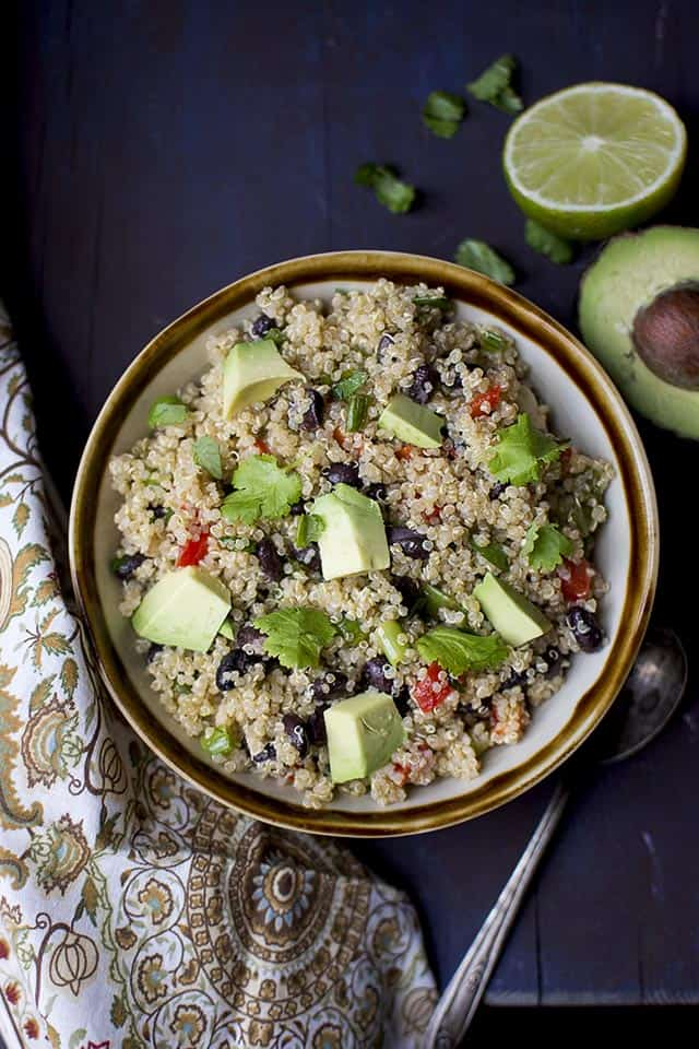 Quinoa Black bean Salad (Vegan Recipe)