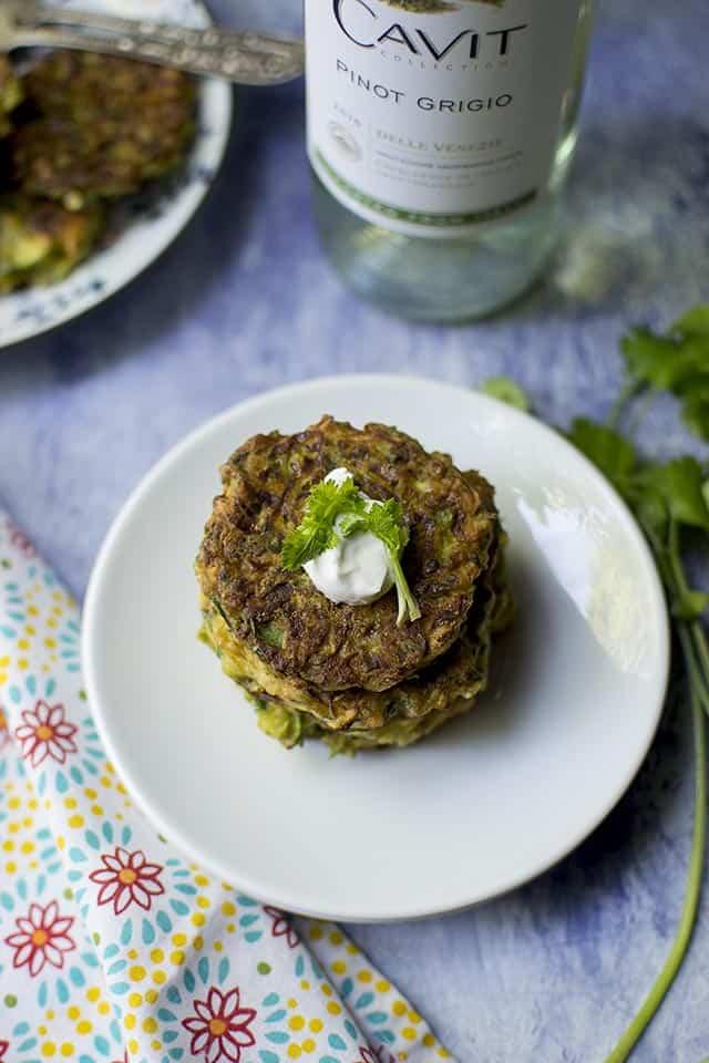 Zucchini Fritters (Vegan Recipe)