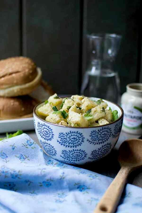Potato Salad with Mustard and Herbs
