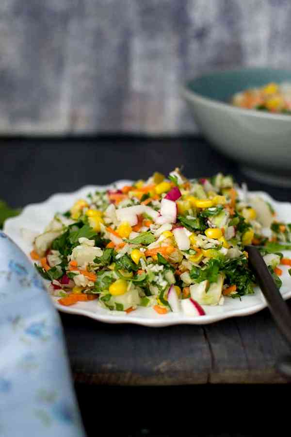 Chopped Salad with Ginger-Honey Dressing