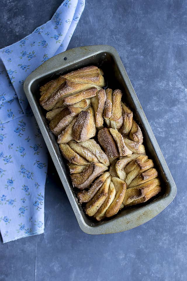 Cinnamon Sugar Pull Apart Bread for #BreadBakers