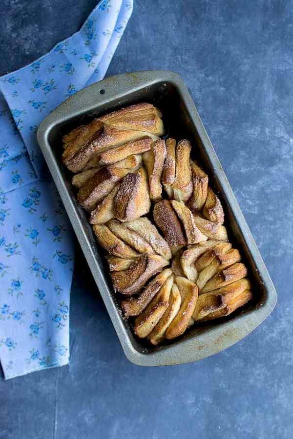 Cinnamon Sugar Pull Apart Bread for #BreadBakers