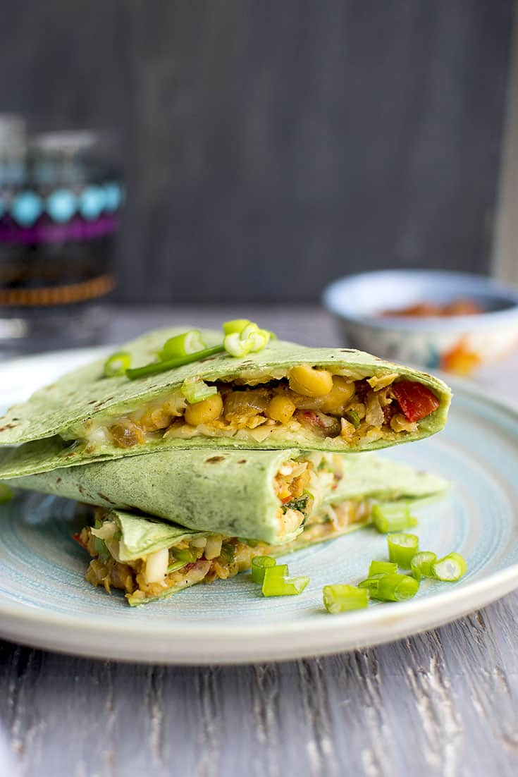 Quesadilla with Chickpeas & Cheese