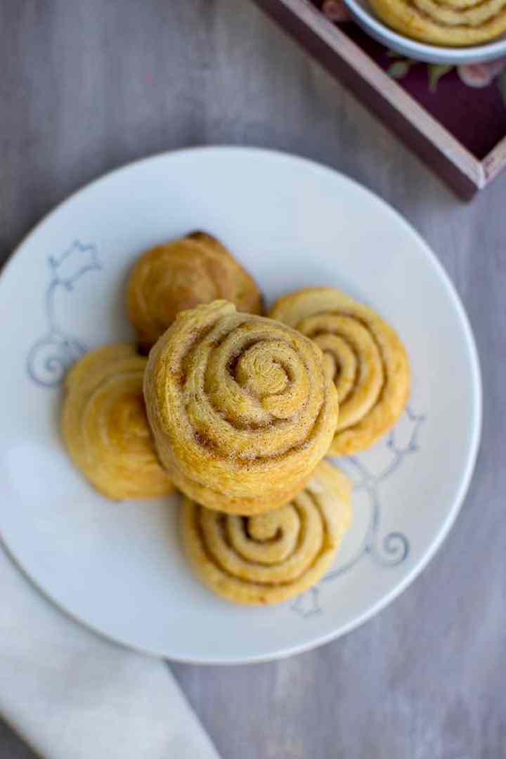 Cinnamon Rolls using Crescent Dough