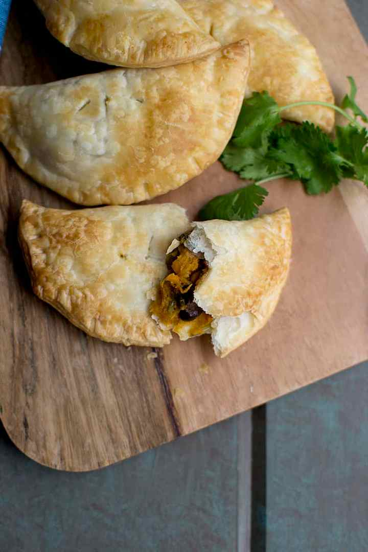 Vegetarian Empanada with Sweet Potato and Black Beans
