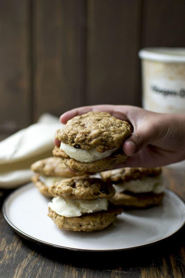 Oatmeal Raisin Ice Cream Sandwich