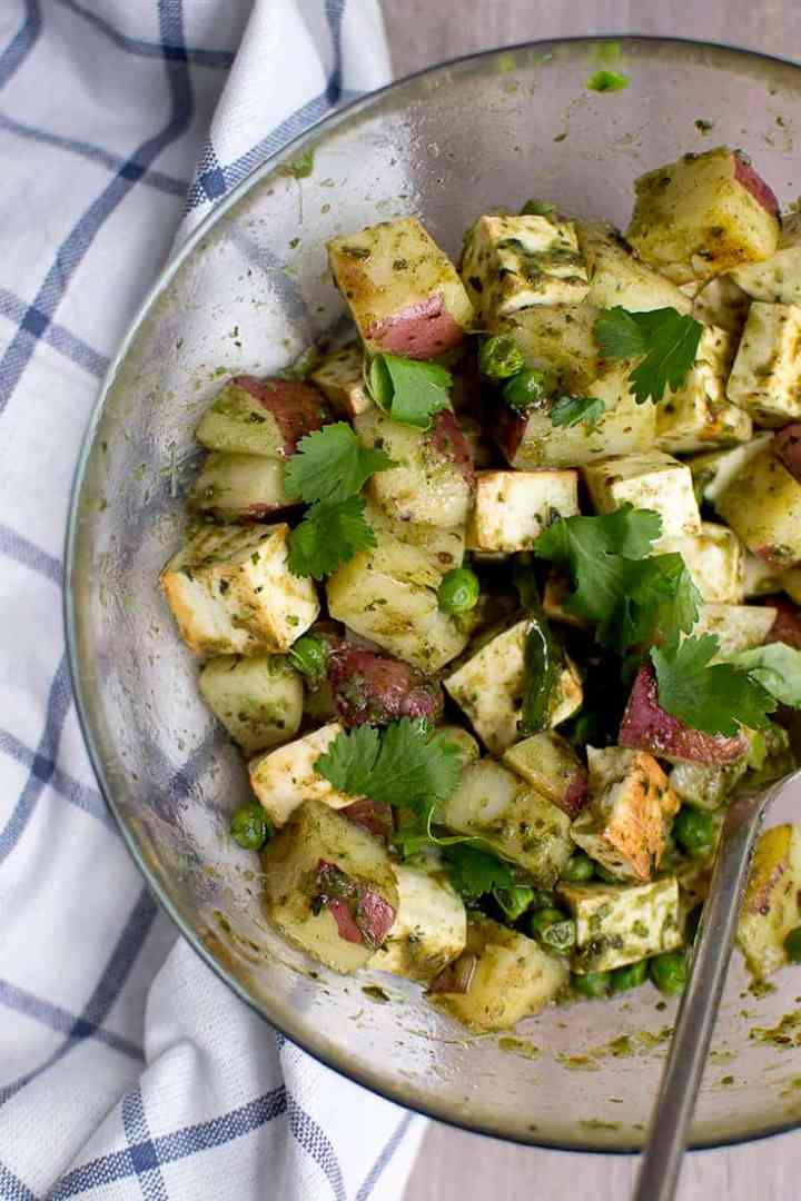 Potato Paneer Chaat