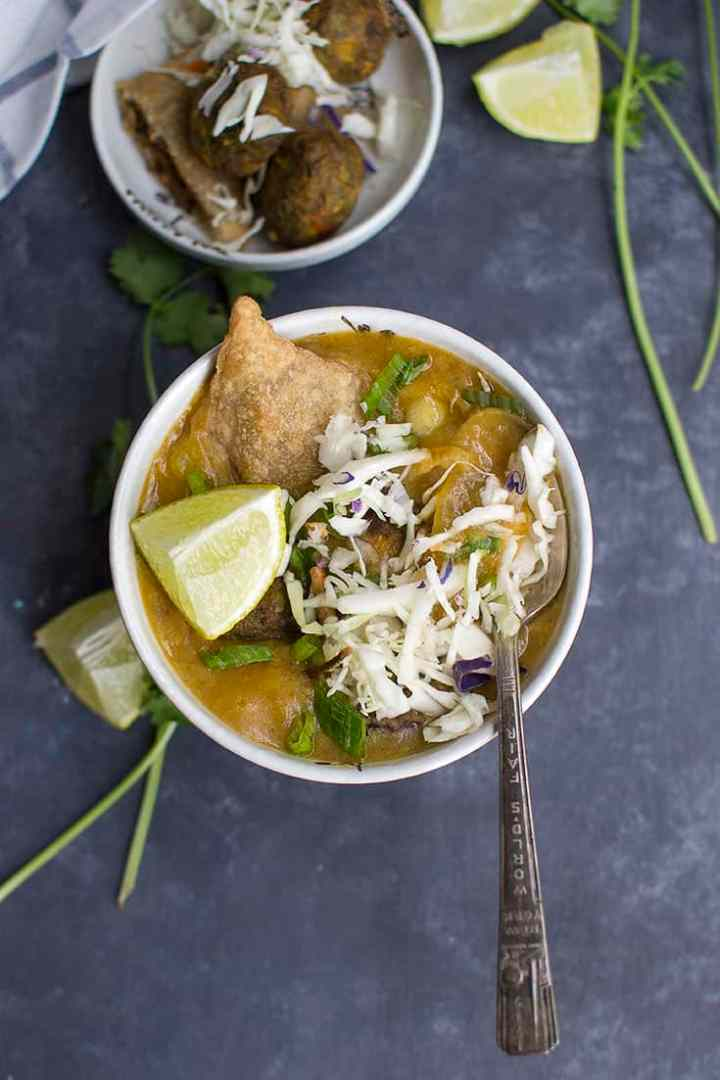 Burmese Samusa Soup Recipe