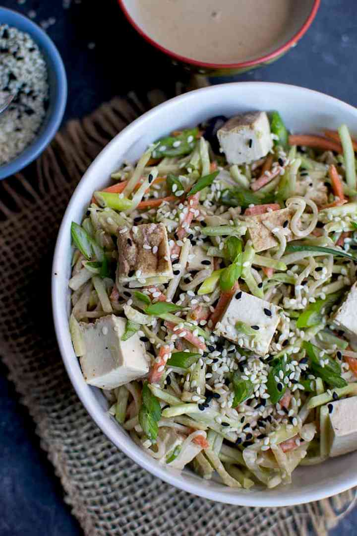 Noodle salad with Tahini Dressing