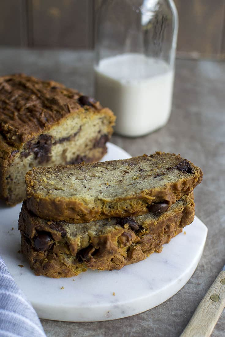 Vegan Gluten-Free Banana Bread for #BreadBakers