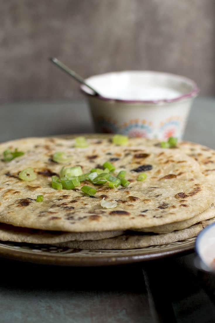 Keema Paratha with Soy granules