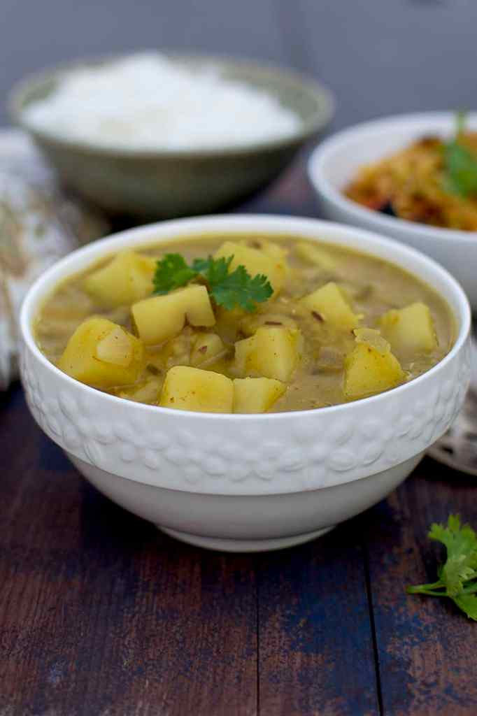Bowl of Aloo Masoor Dal