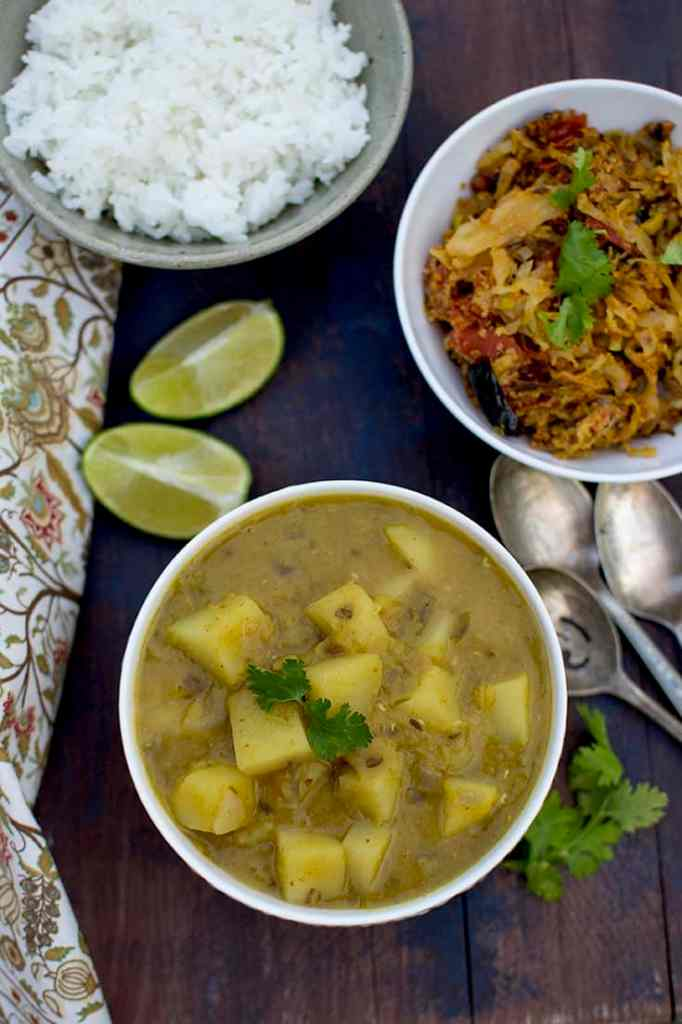 Bowl with Aloo Masoor Dal