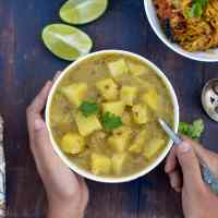 Potato Lentil Stew Recipe (Aloo Masoor Dal)