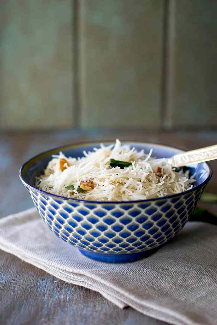 Bowl of Indian Style Coconut Rice Noodles
