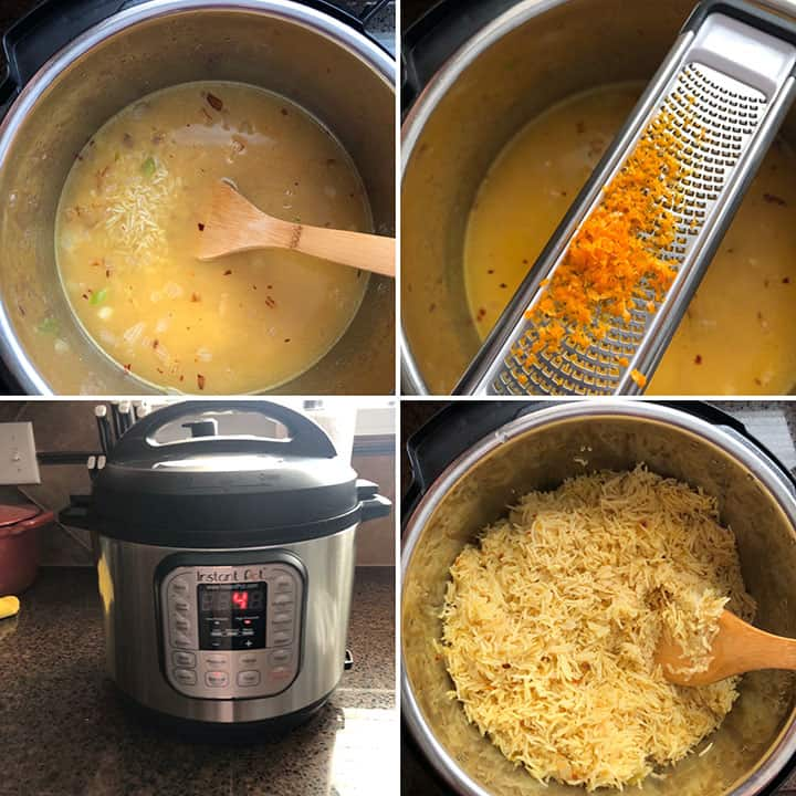 Making spiced Basmati rice in Instant Pot