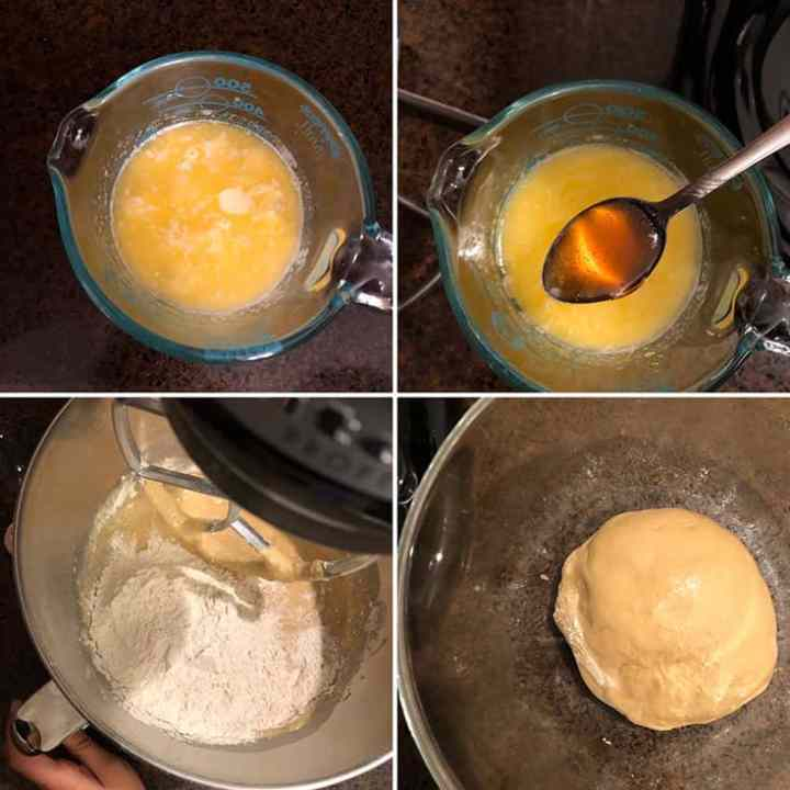 Step by Step photos for making wholewheat dough