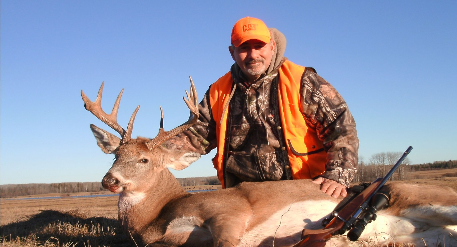 white tail deer hunter - image