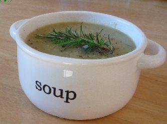 Leek and Potato Soup in a bowl