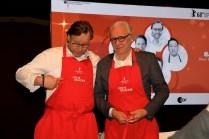 Zwei Weltklasse Köche auf dr 68. Berlinale. Thomas Bühner und Alain Ducasse. © Foto: Birgit Ellrott, 2018