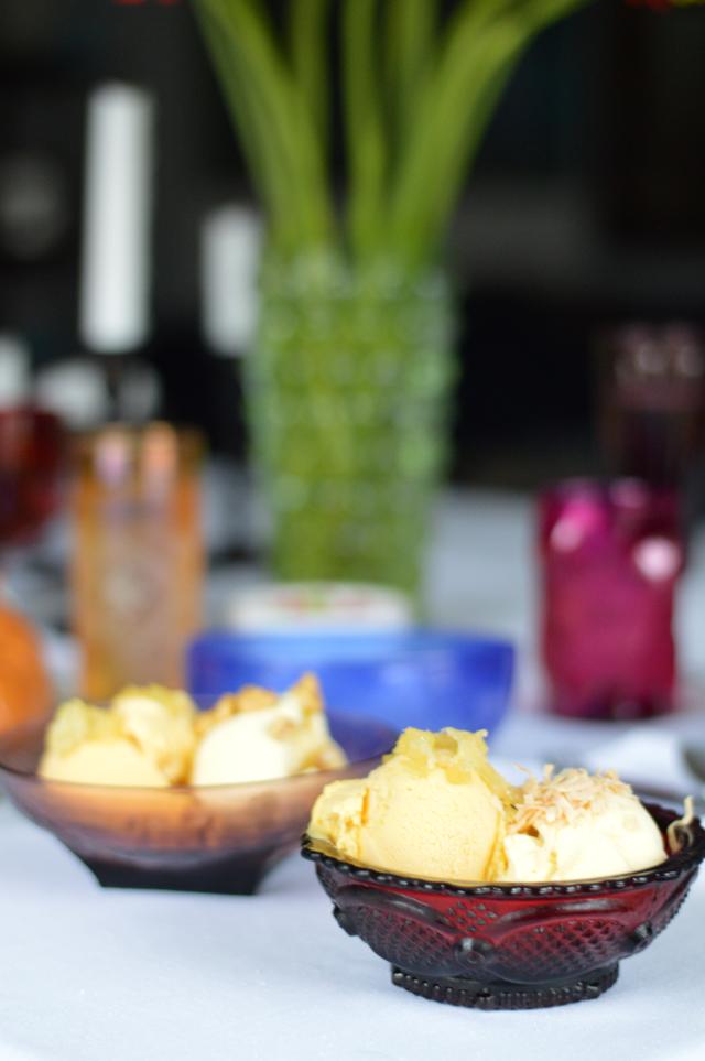 mango and coconut ice cream