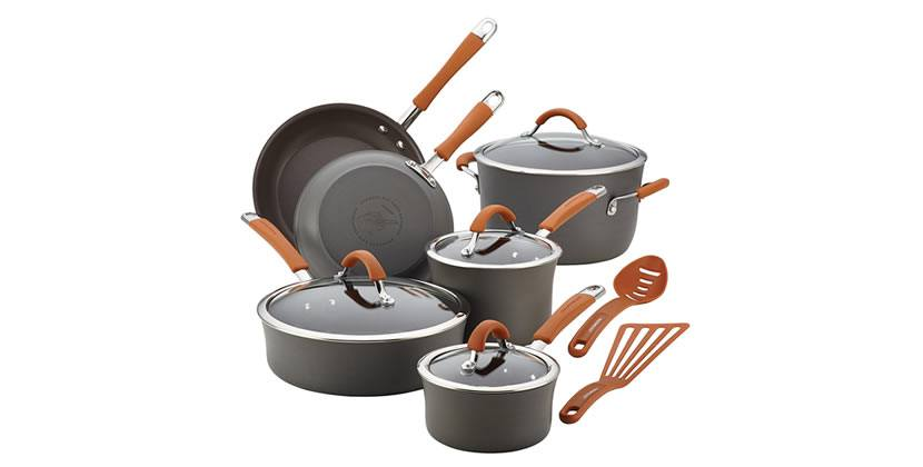 Rachael Ray Hard-Anodized Aluminum Nonstick Cookware Set, 12-Piece Review