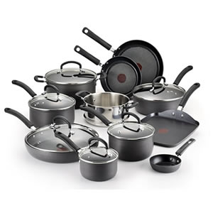 T-fal E765SH 17-Piece Cookware Set - best nonstick cookware