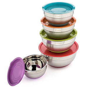 Cheffy Stainless Steel Mixing Bowls Set of 5 Review