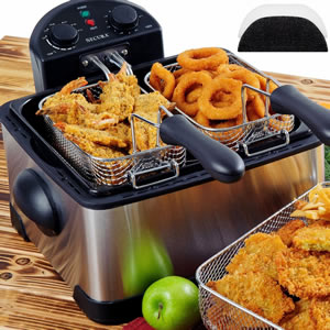 Secura 1700-Watt Triple Basket Electric Deep Fryer Review - best deep fryers