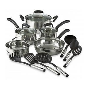 Essential 14-Piece Stainless Steel Cookware Set