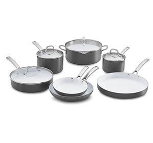 Calphalon 11 Piece Classic Ceramic Nonstick Cookware Set Review - best ceramic cookware set