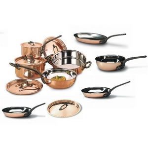 Bourgeat 13 Piece Copper Cookware Set