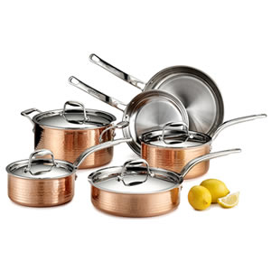 Lagostina Q554SA64 Martellata Tri-ply 10-Piece Copper Cookware Set Review