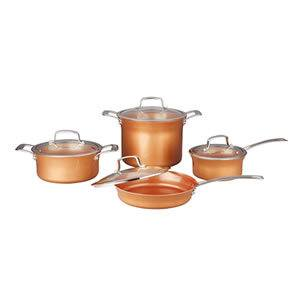CONCORD 8 Piece Ceramic Coated Copper Cookware