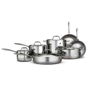 Tramontina Tri-ply Clad 12 Piece Stainless Steel Cookware Set