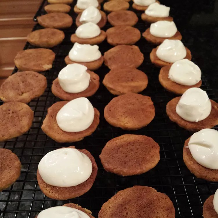 Filled Mini Pumpkin Whoopie Pies