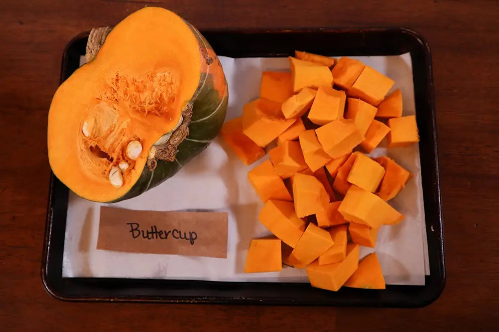 Raw Buttercup Squash