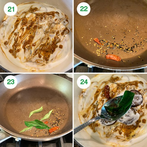 step by step picture collage of making dahi baingan