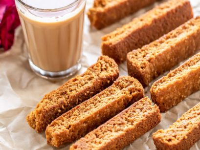 Eggless Cake Rusk - Cook With Manali