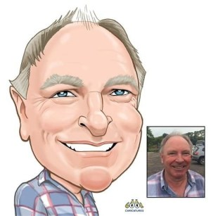 Head only colour digital caricatures