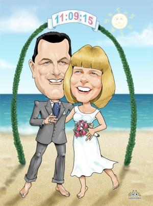 Wedding digital caricature gift